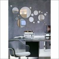 Circles Mirrors Daireler Halkalı Yuvarlak Çoklu Parçalı Banyo Salon Tuvalet Ofis Lavabo Duvar Aynası