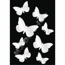 Kebekcikler 8 Sekiz Parça Arkası Çift Taraflı Bantlı 3mm Akrilik Dekoratif Süs Ayna