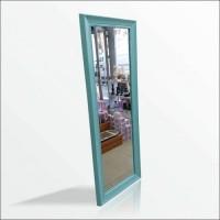 110cm Turkuaz Çerçeve Boy Salon Tuvalet Banyo Koridor Kapıyanı Soyunma Kabini Kolon Vitrin Aynası