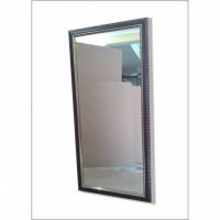 110x55cm Ahşap Yaldız Varak Yatay ve Dikey Çerçeveli Kahverengi Boy Salon Antre Duvar Tuvalet Aynası