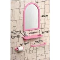 Çoklu 4 Parçalı 56x40cm Büyük Otel Banyo Cafe WC Evye Tuvalet Lavabo Üstü Üzeri Boy Aynası Ayna Seti