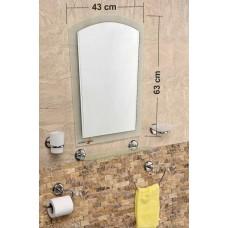 Çift Camlı 6 Parça 63x43cm Dev Büyük Banyo WC Kafe Cafe Tuvalet Lavabo Üstü Üzeri Boy Aynası Seti