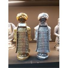 Gür Sakallı Pala Bıyıklı Sarıklı Altın Gümüş Kaftanlı Esmalı Esma-Ül Hüsna Ayaklı Kaideli Biblo Obje
