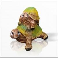 Büyük Ebat Dış ve İç Mekan Yağmurdan Etkilenmez Mermer Taş Tozu Detaylı Kaplumbağa Biblosu Heykeli