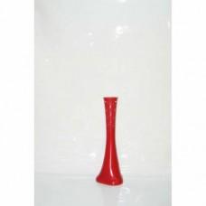 Uzun Delikli Desenli Kırmızı Devrilmez 60 cm Kırılmaz Dengeli Fil Ayağı Geniş Taban Long Vase Vazo