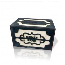 Geniş Büyük Ebat Gizli Kapaklı Kilitli Tip Box Money Bank Yazılı Demir Kağıt Para İçin Kumbara Kutu