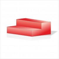 İki Katlı Kırmızı Ahşap Çocuk Banyo Wc Sergileme Vitrin Camekan Kapı Standı Tabure Basamak Merdiven