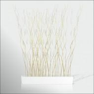 150 cm Genişlik 165 cm Boyunda Beyaz Geniş Saksılı 52 Adet Dallı Oda Vitrin Bölme Seperatör Paravan