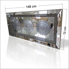 Büyük Dev Etajer Komodin Sehpa Masa Portmanto Üstüne Dini Ayetli Taşlı Aynalı Boy Aynası Pano Tablo