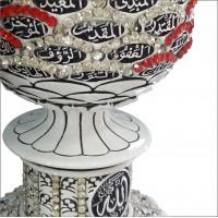 Kristal Taşlı Külçe Esma-ül Hüsna Hutbe Kürsüsü Merdiven Küpeşte Başı Masa Vitrin Süsü Topuzu Biblo