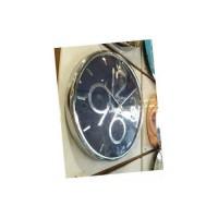Dev Metalik Rakkamlı Kasalı Sessiz Saniye Eşsiz Tasarım Ofis Ev House 35cm Wall Clock Duvar Saati