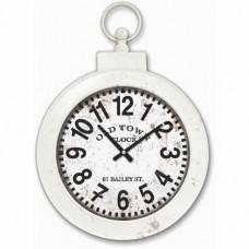 Beyaz Dekor Dev Köstekli Kulplu Demir Okunaklı Uzaktan Okunur 81cm Camlı Sağlam Askılı Duvar Saati