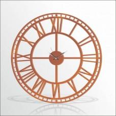 Büyük Dev Kahve 120cm Romen Rakkamlı Arkası Görünen Sessiz Big Giant Brown Wall Clock Duvar Saati