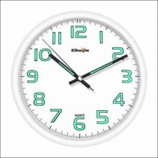 M3 White Frame Beyaz Çerçeve Fosforlu Phosphorous Quiet Glazed Wall Clock Sessiz Duvar Saati