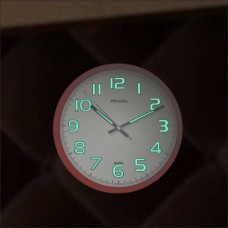 Gece Okunan Görünen Kırmızı Kasa 28 cm Sessiz Çalışan Fosforlu Duvar Saati Yerli Faturalı Garantili