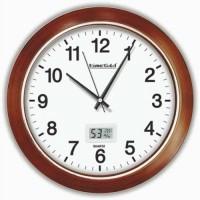 Yüzde Bazında Hassas Dijital Nem Ölçerli Isı Ölçerli Termometreli Derece Göstergeli 30cm Duvar Saati