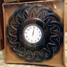 Modern Klasik Rustik Retro Şahmeran Yılan Desen Siyah 55 cm Akrilik Taşlı Ön Camlı Pilli Duvar Saati
