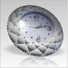 Chester Cester Çester Çestır Cestır Koltuk Tarzı Düğmeli Taşlı Tasarım Sessiz Saniye Duvar Saati