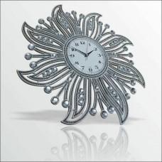Fas Osmanlı Oymalı Rustik Motifli Güneş Desenli Akrilik Döküm Ayna Taşlı Kaliteli Klasik Duvar Saati