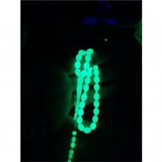 Yeşil Fosforlu Gece Karanlıkta Parlayan Işıldayan 33 lük Delikanlı Müslüman Sert Taş Tesbih Tespih